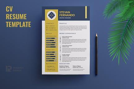 CV  Resume R63 Template