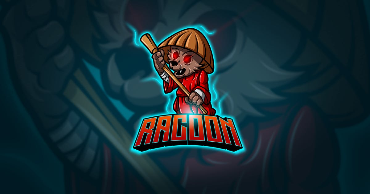 Download Racoon - Mascot & Esport Logo by aqrstudio