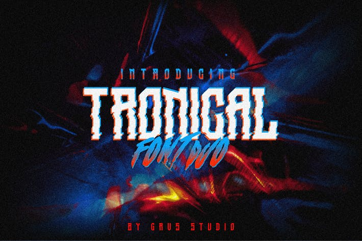 Thumbnail for Tronical Font Duo
