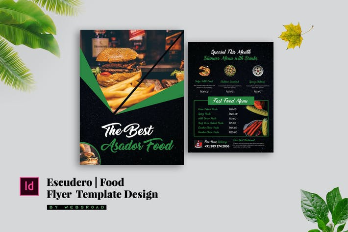 Thumbnail for Escudero | Food Flyer Template Design