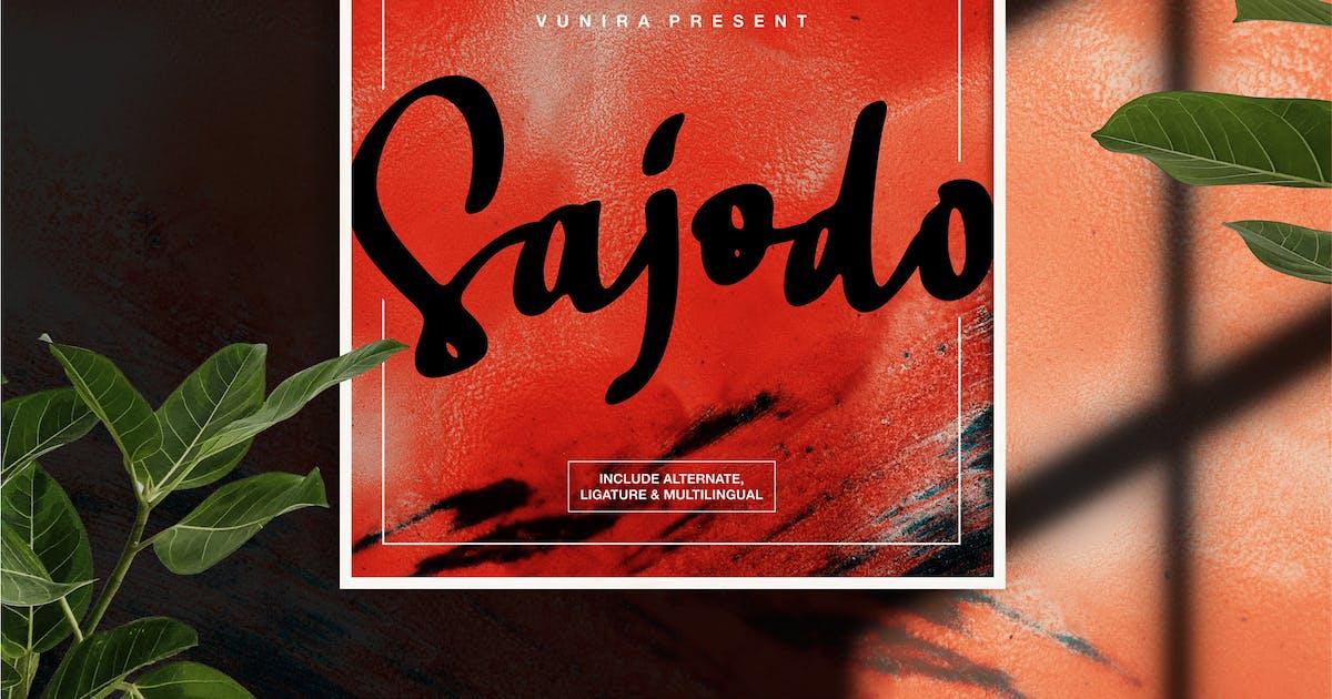 Download Sajodo   Handlettering Script Font by Vunira