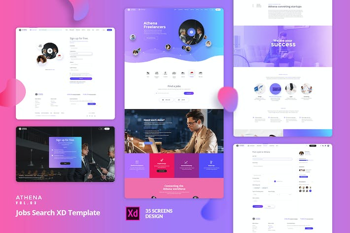 ATHENA Vol.03 - Jobs Search XD Template