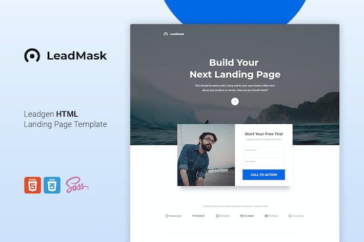 Thumbnail for LeadMask - Leadgen HTML Landing Page Template