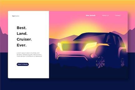 Car Dealership - Banner & Landing Page