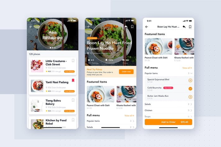 Thumbnail for Restaurant mobile app kit