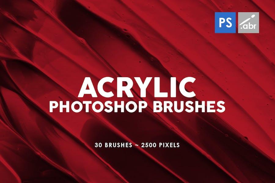 30 Acrylic Photoshop Stamp Brushes Vol. 2