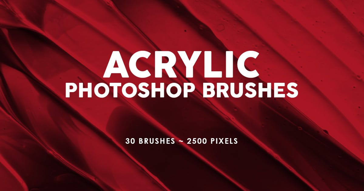 Download 30 Acrylic Photoshop Stamp Brushes Vol. 2 by M-e-f