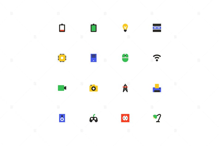 Technology - colorful material design icons