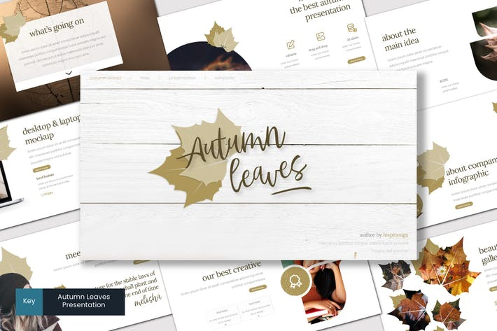 Thumbnail for Autumn Leaves - Keynote Template