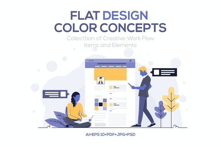 Thumbnail for Modern Flat design people and Business concepts