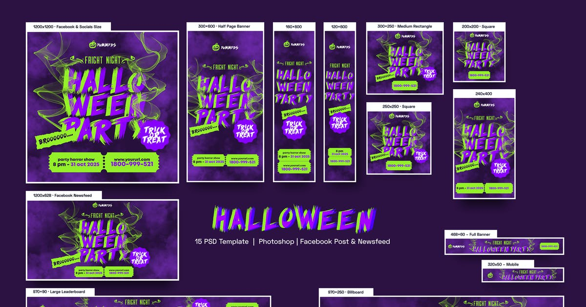 Download Halloween Party Banners Ad by YummyDs