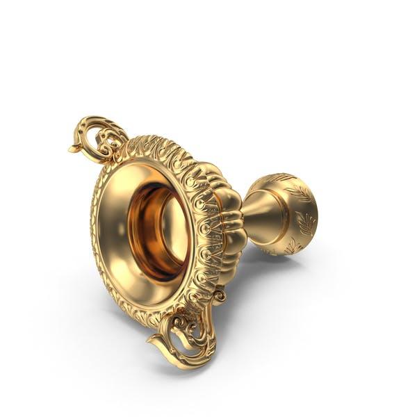 Lying Baroque Golden Cup