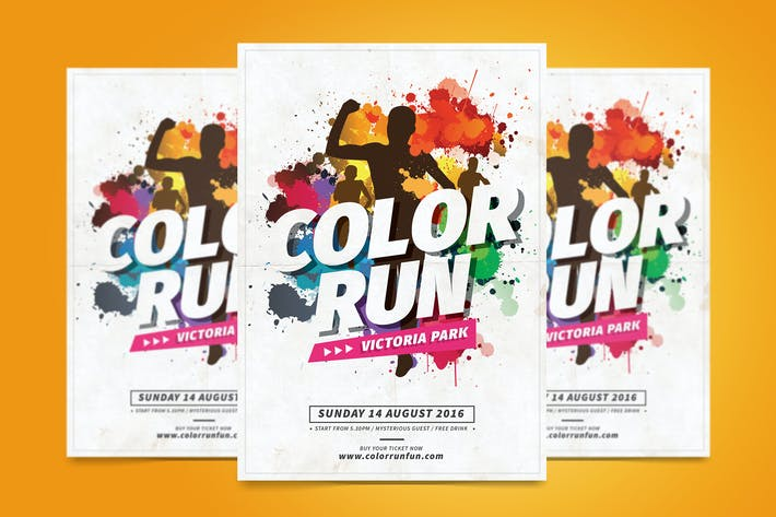 Color Run Flyer By Tokosatsu On Envato Elements