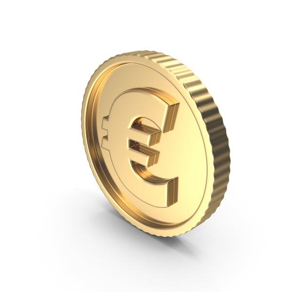 Bright Gold Coin Euro