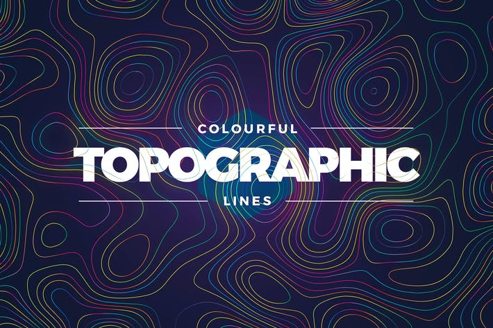 Thumbnail for Topographic Styled Colorful Lines Background