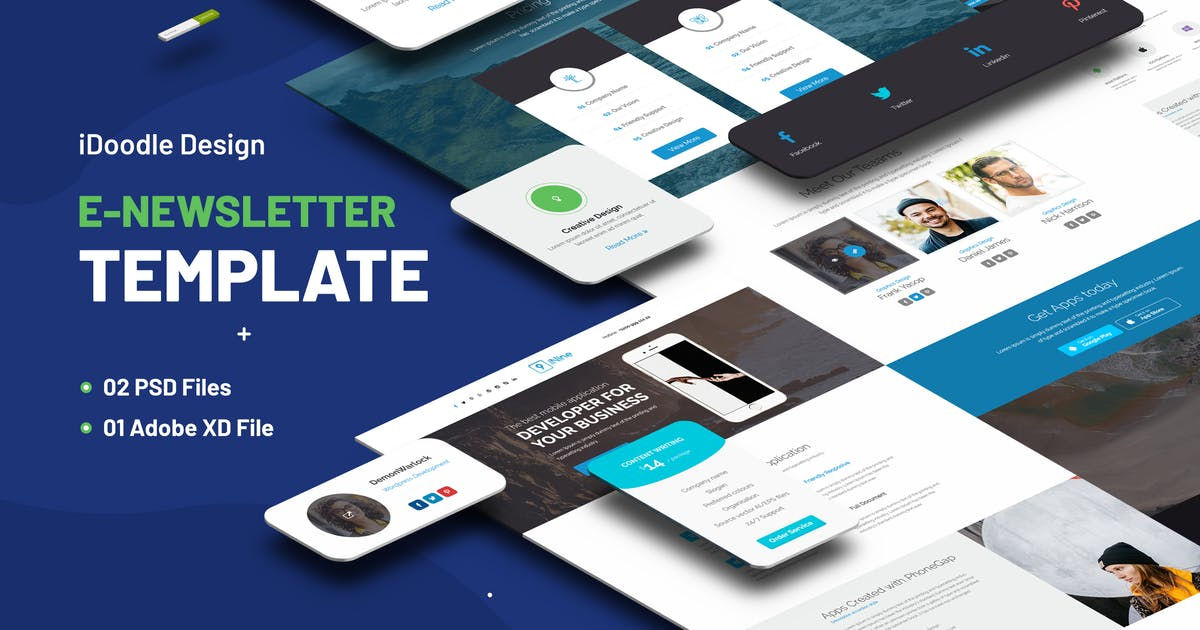 Download Multipurpose E-newsletter Template by iDoodle