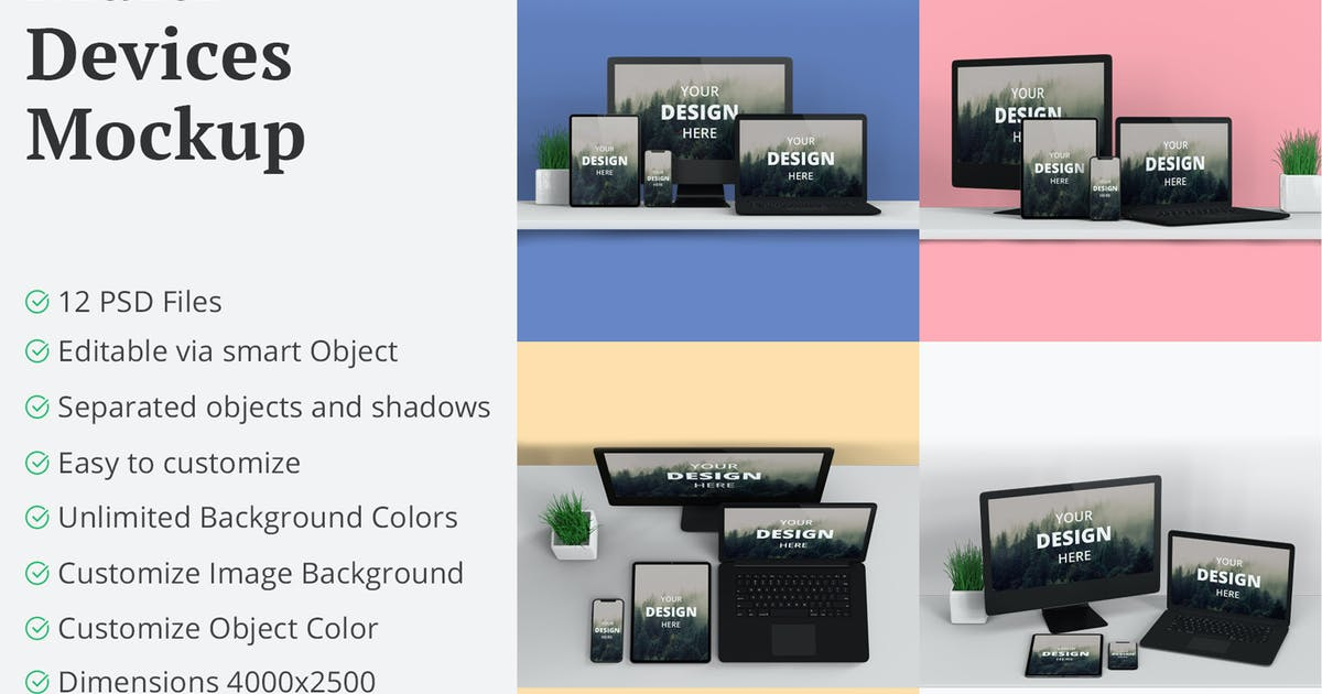 Download Multi Devices Mockup 12 PSD Files by erdp