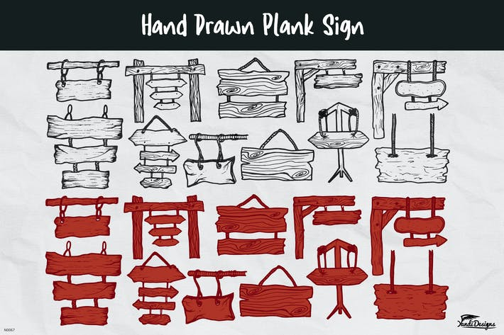 Thumbnail for Hand Drawn Plank Sign