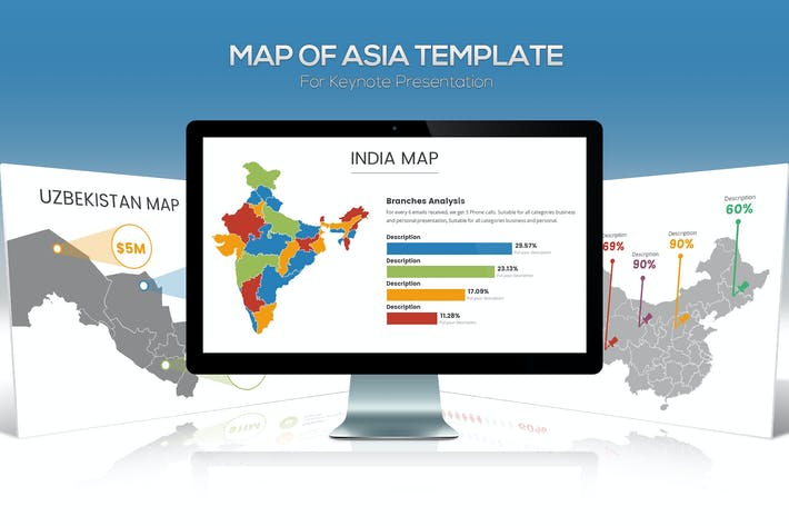Thumbnail for Asia Maps for Keynote Presentation
