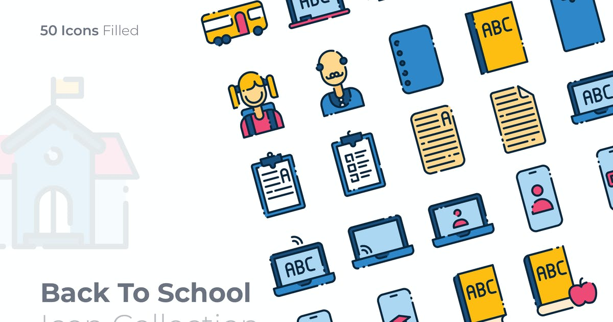 Download Back To School Filled Icon by GoodWare_Std