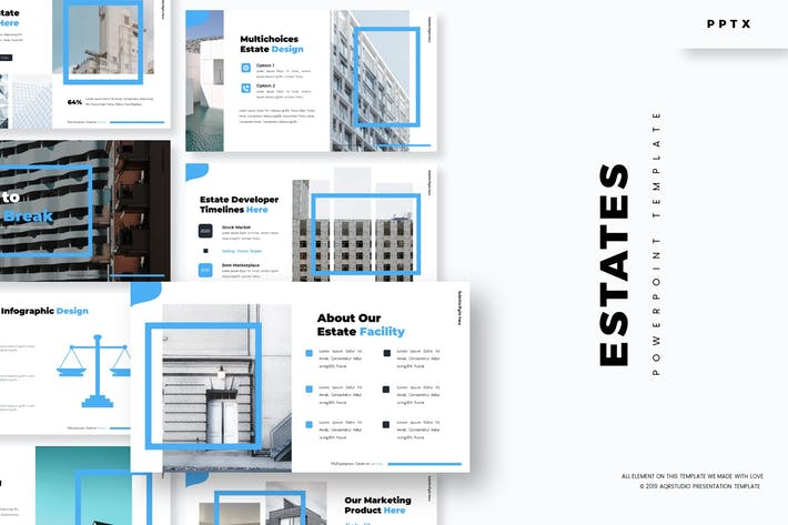 Thumbnail for Estates - Powerpoint Template