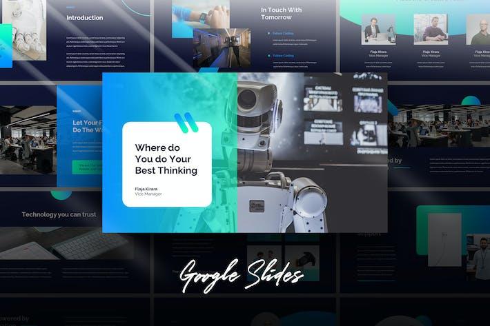 Thumbnail for Robot - Tech Business Google Slides Template
