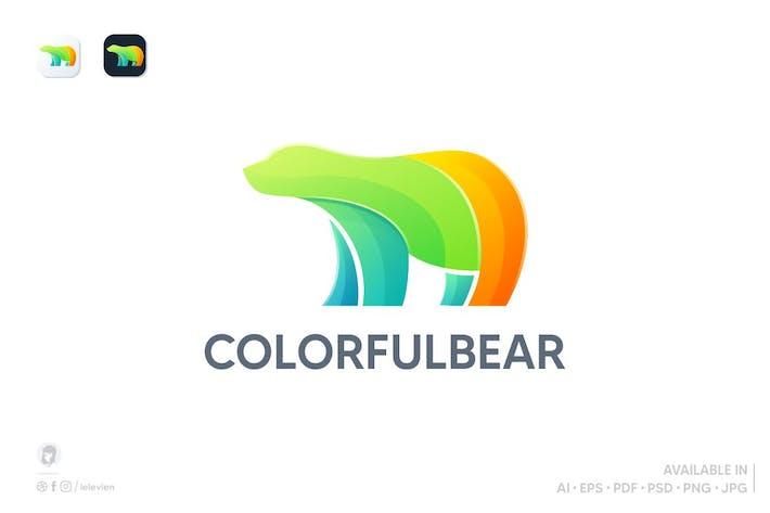 Thumbnail for colorful bear logo template