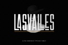 Las Valles Ultra Condensed Typeface 4 Fonts