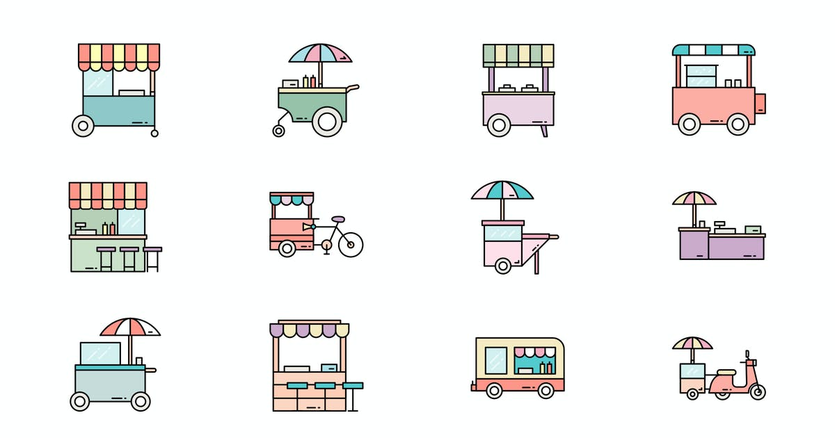 Download Street Food Icon by vintagio