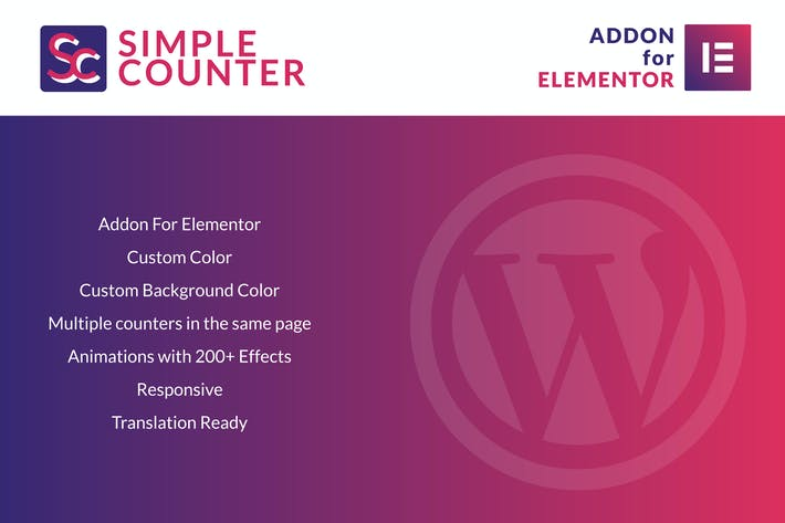 Cover Image For Simple Counter for Elementor WordPress Plugin