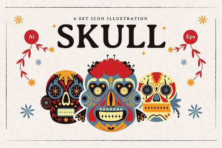 Sugar Skull Illustration Set