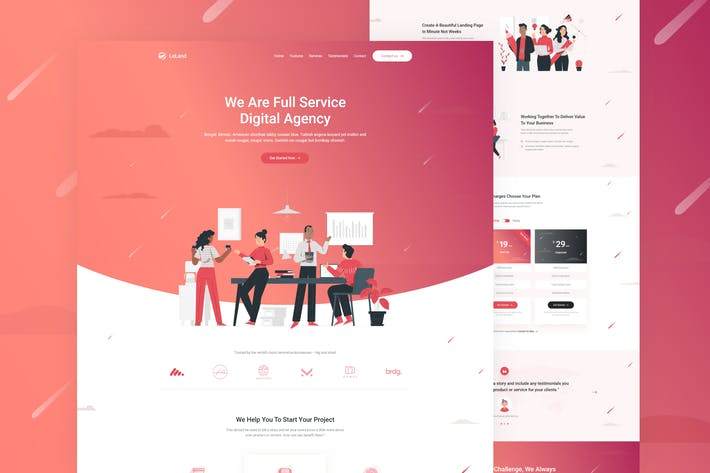 Thumbnail for LeLand - Isometric Business HTML Landing Page