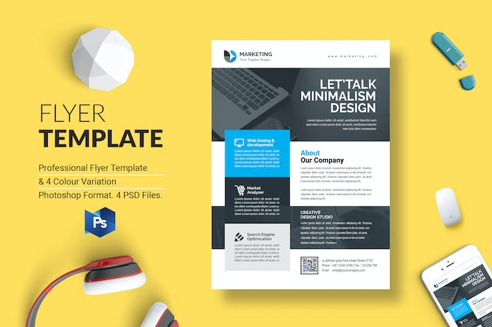 Thumbnail for Business Flyer Template 42