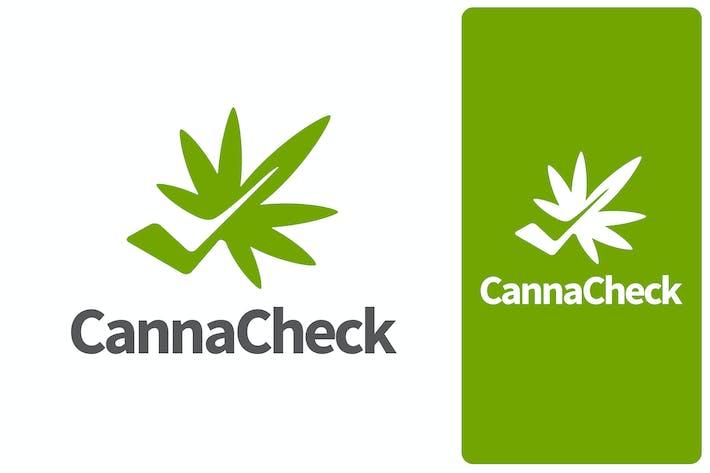 Thumbnail for Modern Cannabis Leaf and Check Mark Logo