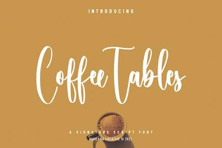 Coffee Tables Script Font