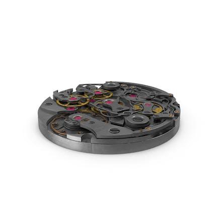 Mecanismo de reloj de metal usado