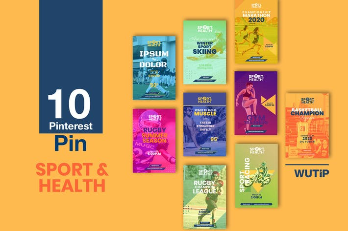 Cover Image For 10 Pinterest Pin Banner - Sport and Health