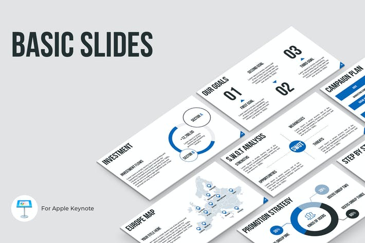 Thumbnail for Basic Slides Keynote Template