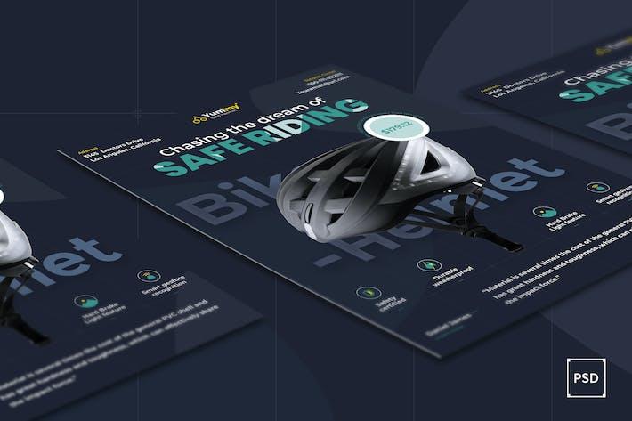 Thumbnail for Bike Helmet Flyer PSD Template