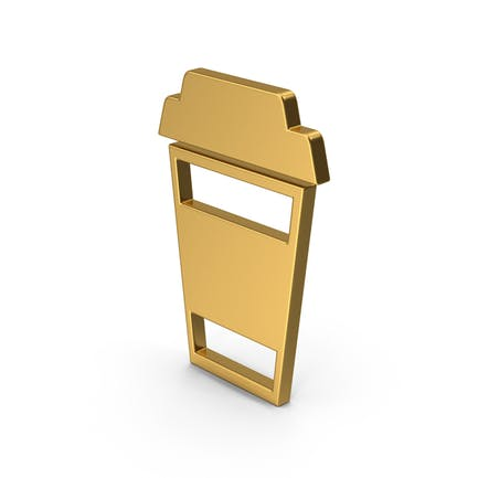 Symbol To Go Coffee Cup Gold