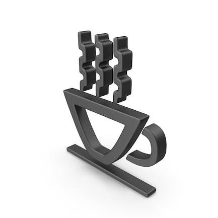 Hot Cup Symbol Black
