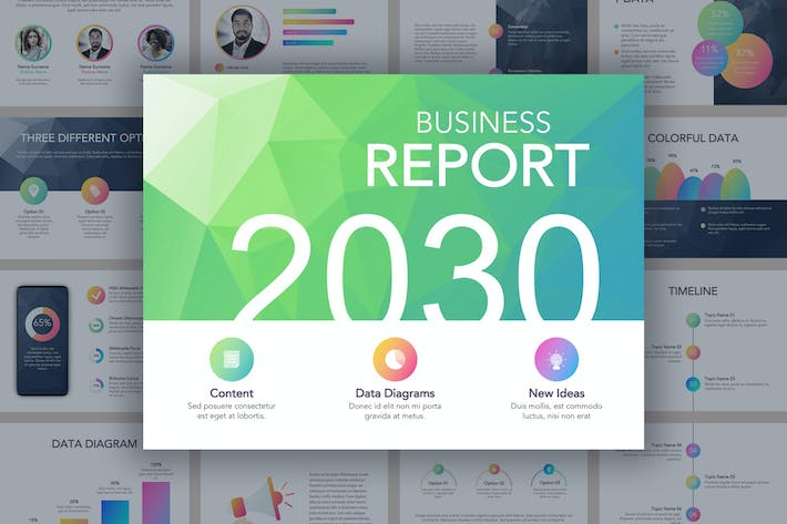 Thumbnail for Business Report Google Slides Template