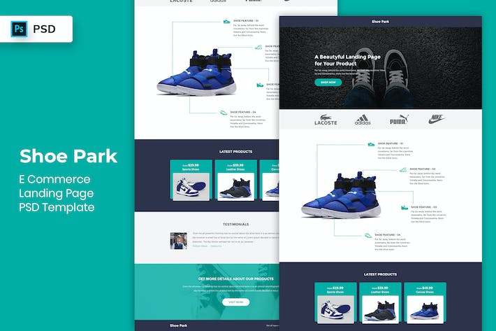 Thumbnail for Ecommerce - Landing Page PSD Template-02