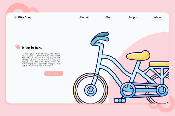 Thumbnail for Bike Shop - Landing Page