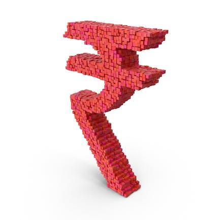 Símbolo de la rupia de Voxel