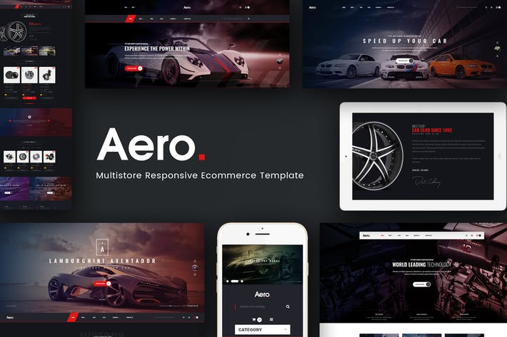 Thumbnail for Aero - Car Accessories Responsive Magento Theme