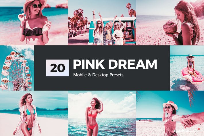 20 Pink Dream Lightroom Presets and LUTs