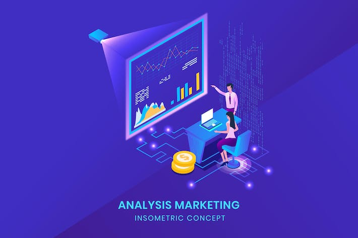 Thumbnail for Analysis Marketing - Isometric Vector