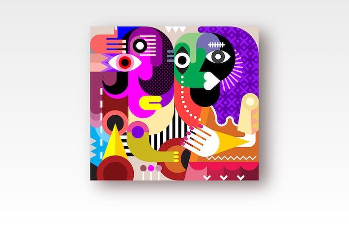 Thumbnail for Two Women Portrait vector artwork