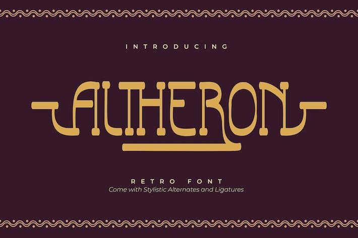 Thumbnail for Altheron | Fuente Retro Con serifa